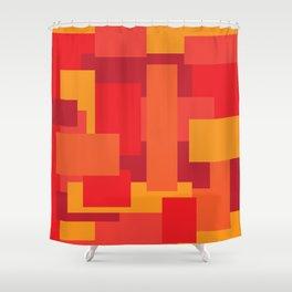 Fiery Shower Curtain