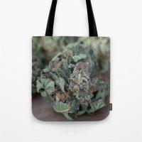 medical Tote Bags featuring Master Kush Medical Marijuana by BudProducts.us