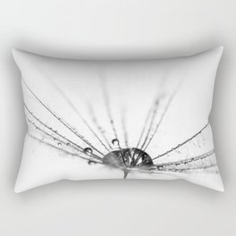 Abstract Beauty a wet Dandelion Seed Rectangular Pillow