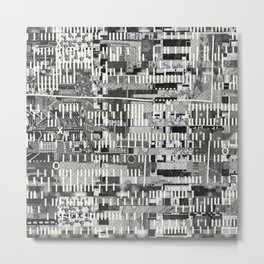 Exploiting Digital Behavior (P/D3 Glitch Collage Studies) Metal Print