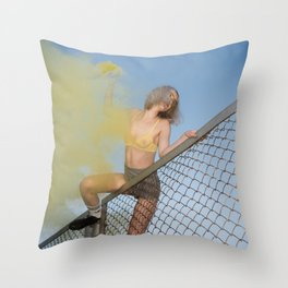 Echoes of an Ongoing Riot Throw Pillow