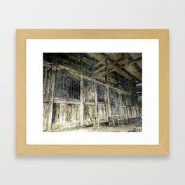 Deserted Chinese Farm House Framed Art Print