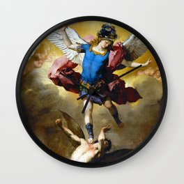 The Fall of the Rebel Angels by Luca Giordano (1666) Wall Clock