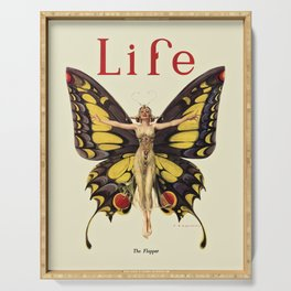 The Flapper by F.X. Leyendecker - Life Magazine Cover Art Print Serving Tray