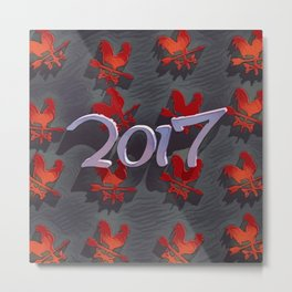 Chinese calendar for the year of rooster 2017 Metal Print