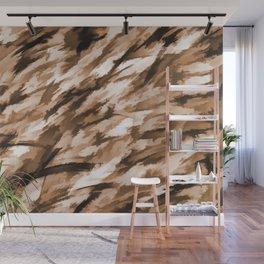 Beige Designer Camo Wall Mural