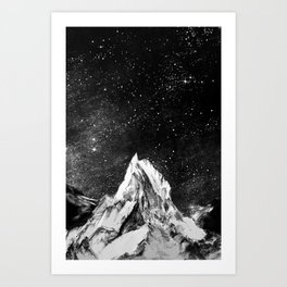 mont gore - mountain and star Art Print