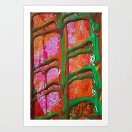 The Manipulation Of Paint #6 Art Print