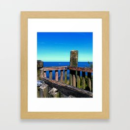 Grainy Wood Framed Art Print