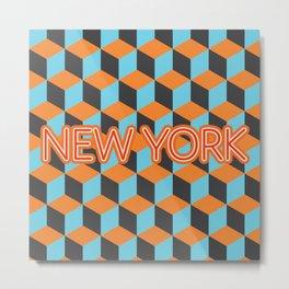80s New York Metal Print