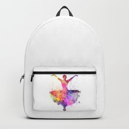 Woman ballerina ballet dancer dancing Backpack