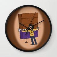 chocolate Wall Clocks featuring Chocolate! by Wackom