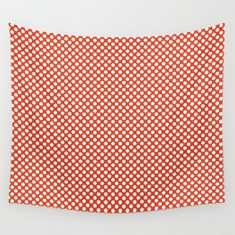 Tangerine Tango and White Polka Dots Wall Tapestry