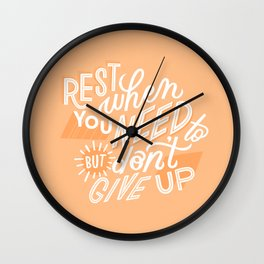 rest when you need to Wall Clock