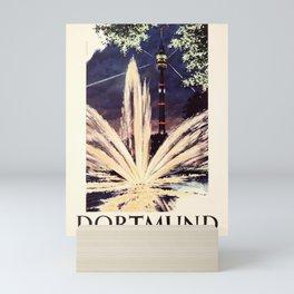 vintage placard Dortmund Westfalenpark Karl Schiller Mini Art Print