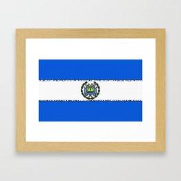 Fancy Flag: Nicaragua Framed Art Print