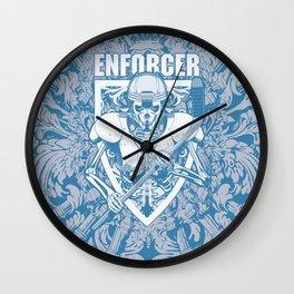 Enforcer Ice Hockey Player Skeleton Wall Clock