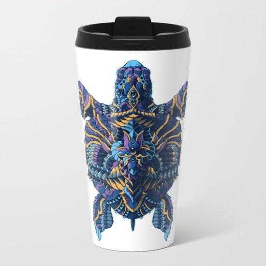Sea Turtle (Color Version) Metal Travel Mug
