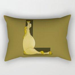 Pony Monogram Letter L Rectangular Pillow