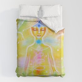 Reconnection Angel Duvet Cover