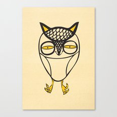 satisfied  owl Canvas Print