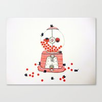 gumball Canvas Prints featuring Gumball Machine. by ruffgaws