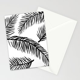 Black & White Palm Leaves Stationery Cards