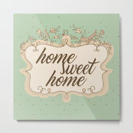 Home sweet home housewarming welcome gift art print Metal Print