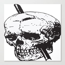 Frontal Lobotomy Skull Of Phineas Gage Vector Isolated Canvas Print