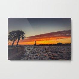 Biloxi Sunset Metal Print