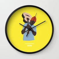 the life aquatic Wall Clocks featuring ZISSOU ( The Life Aquatic ) by COMME UNE AFFICHE AU MUR