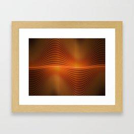 Orange Sine Wave Framed Art Print