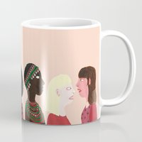 women Mugs featuring women by Alejandra Hernandez