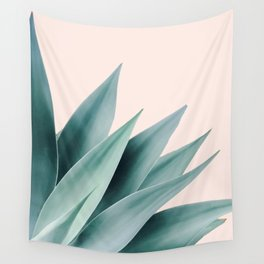 Agave flare II - peach Wall Tapestry