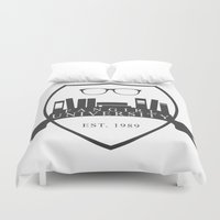 fangirl Duvet Covers featuring Fangirl University by Legendary Fangirl