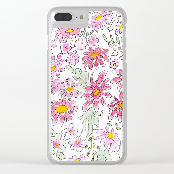 Watercolor . Summer flowers . Clear iPhone Case