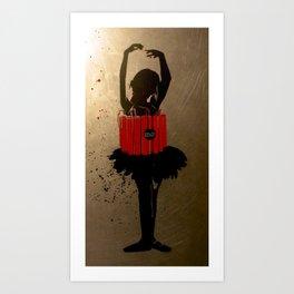 Tick…Tick…Pirouette  Art Print