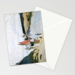 Entrance to the Port of Trouville by Claude Monet , 1870 Stationery Cards