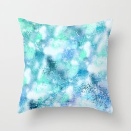 Cracked Geode Throw Pillow