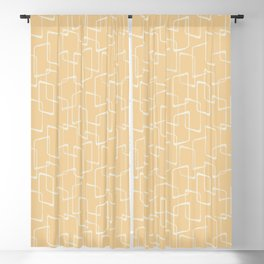 Retro Soft Gold Geometric Pattern Blackout Curtain