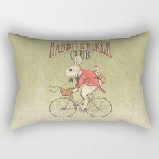 Rabbits Biker Club Rectangular Pillow