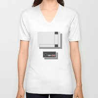 nintendo V-neck T-shirts featuring Nintendo by Di No