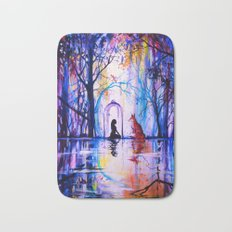 Soul reflection (The girl, the fox and the love) Bath Mat