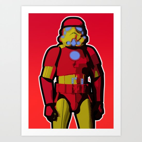 iron trooper Art Print