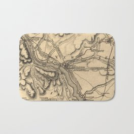 George Washington Trenton NJ Battlefield Map 1777 Bath Mat