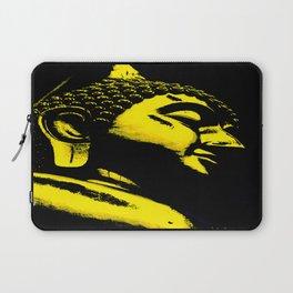 Buddah Head 01; Gold  Laptop Sleeve