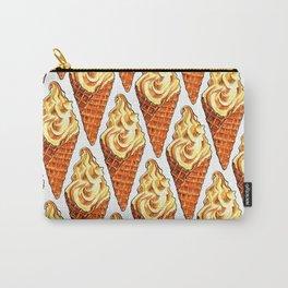 Vanilla Soft Serve Pattern Carry-All Pouch