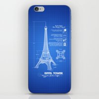 eiffel tower iPhone & iPod Skins featuring  Eiffel Tower by mewdew