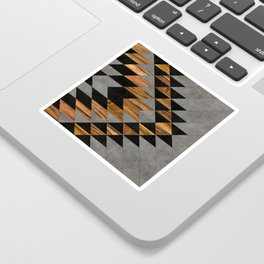 Urban Tribal Pattern No.10 - Aztec - Concrete and Wood Sticker