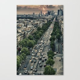 Champs Elysees HDR Canvas Print
